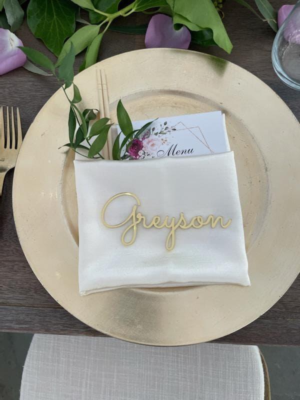 Micro Wedding Place Setting
